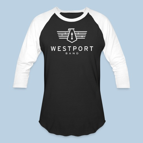 Westport Band White on transparent - Unisex Baseball T-Shirt