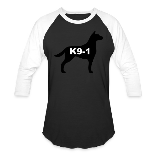 k9-1 Logo Large - Baseball T-Shirt