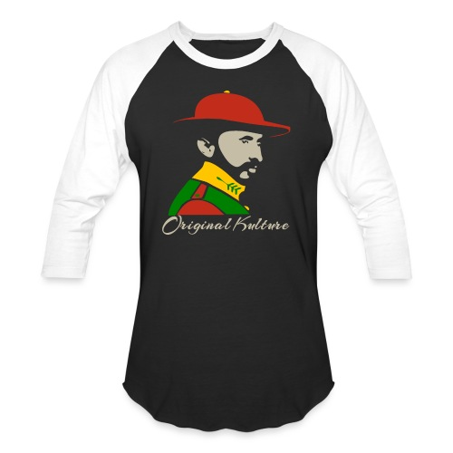 Haile Selassie Rasta Print - Baseball T-Shirt