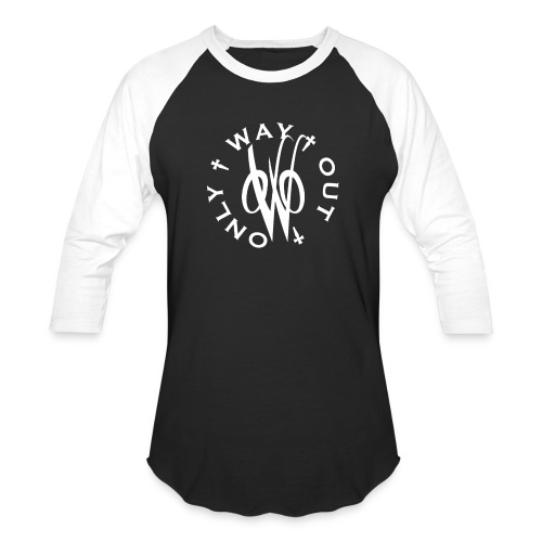 White OWO - Unisex Baseball T-Shirt