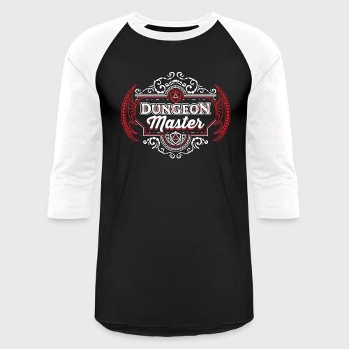 dungeon master filigree fantasy gift d20 shirt - Unisex Baseball T-Shirt