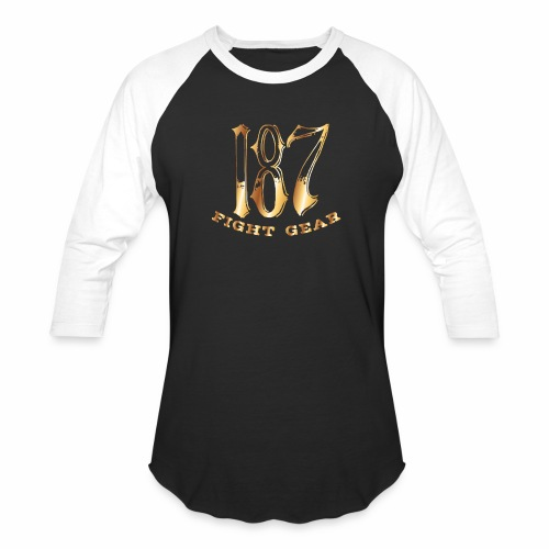 187 Fight Gear Gold Logo Street Wear - Baseball T-Shirt