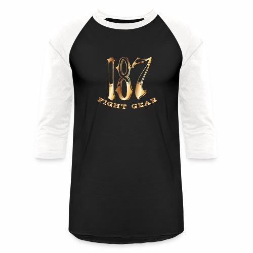 187 Fight Gear Gold Logo Sports Gear - Baseball T-Shirt