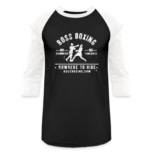 rossboxing_white - Unisex Baseball T-Shirt