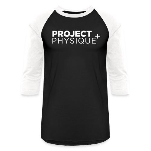 Projet Physique Logo Blanc - T-shirt de baseball unisexe