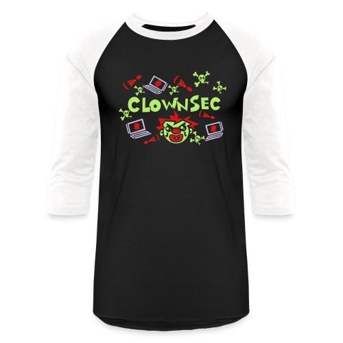The Clown Hacker - Unisex Baseball T-Shirt