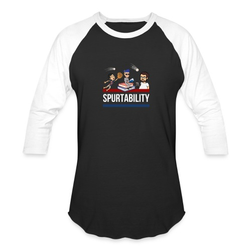 Spurtability White Text - Baseball T-Shirt