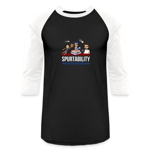 Spurtability White Text - Unisex Baseball T-Shirt