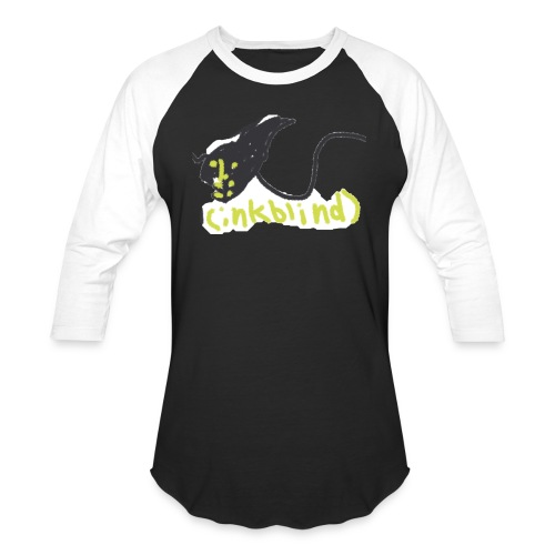 Kids funny monster ink - Unisex Baseball T-Shirt