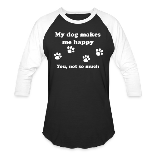 dog_happy - Baseball T-Shirt