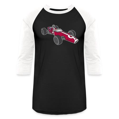 Red racing car, racecar, sportscar - Unisex Baseball T-Shirt