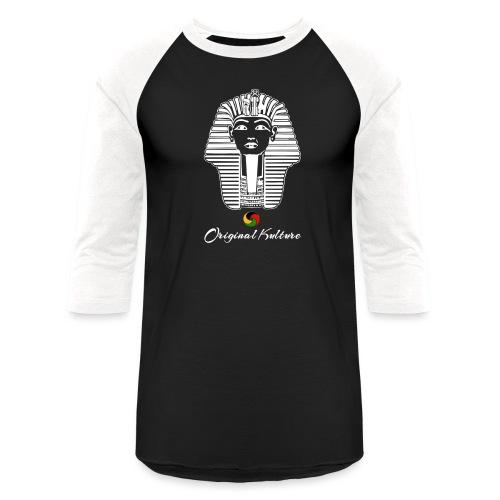 Original Kulture White Print - Baseball T-Shirt