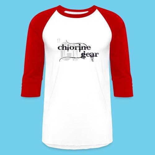 Chlorine Gear Textual stacked Periodic backdrop - Baseball T-Shirt