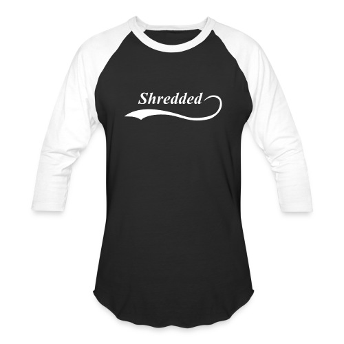 Mens Shredded Crewneck Sweatshirt - Baseball T-Shirt