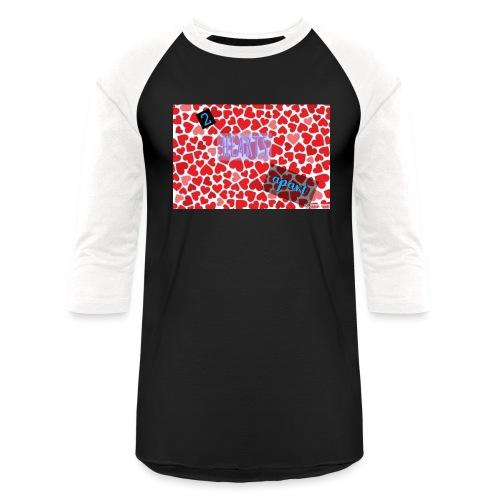 2 hearts apart - Baseball T-Shirt