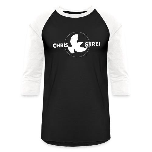 Chris Strei BlackBird Logo (white) - Unisex Baseball T-Shirt