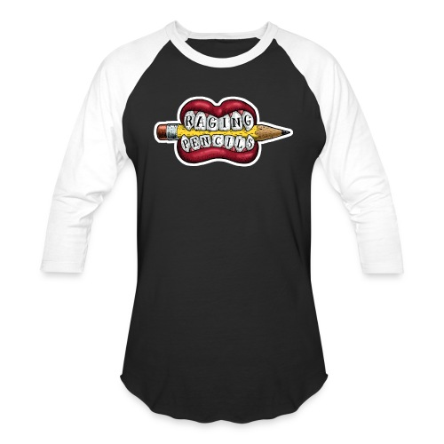 Raging Pencils Bargain Basement logo t-shirt - Unisex Baseball T-Shirt