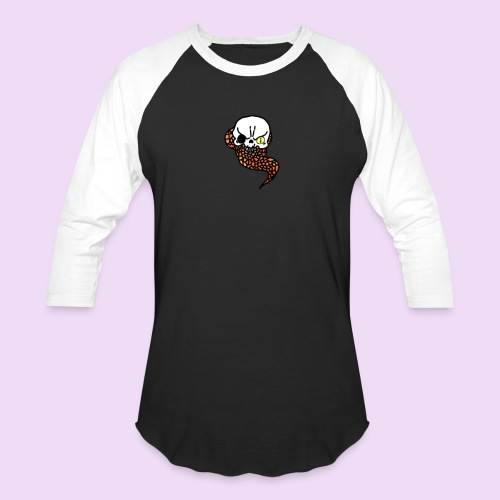 Skull & Snake - Baseball T-Shirt