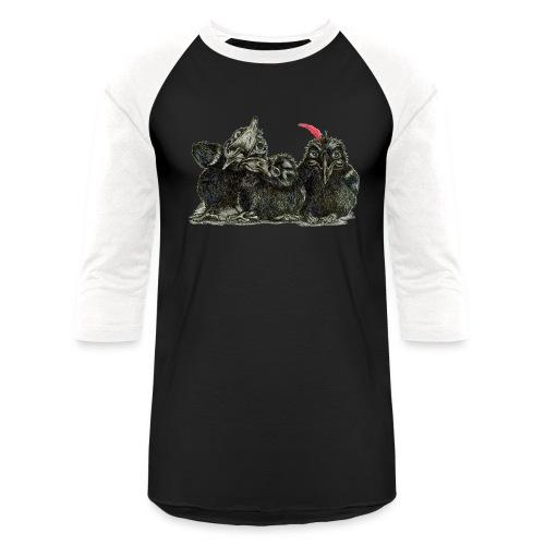 Three Young Crows - Baseball T-Shirt
