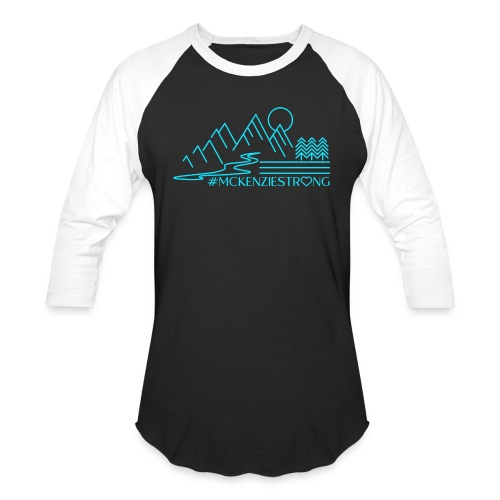 McKenzie Strong TEAL - Unisex Baseball T-Shirt