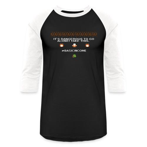Legend of #Basicincome - Unisex Baseball T-Shirt