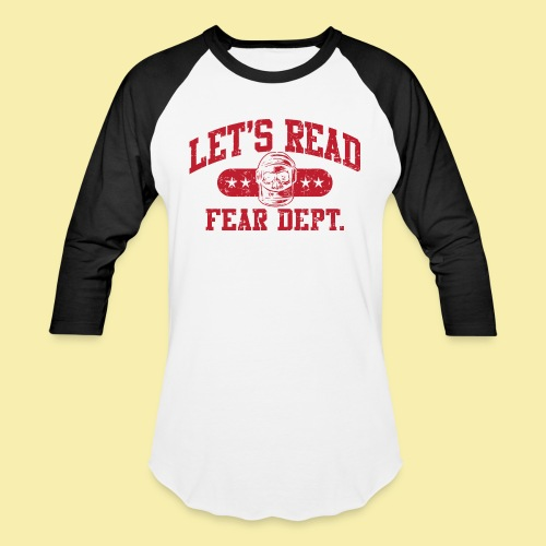 Fear Dept - Athletic Red - Inverted - Baseball T-Shirt