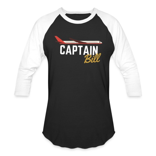 Captain Bill Avaition products - Unisex Baseball T-Shirt