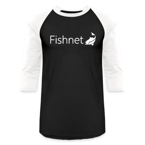 Fishnet (White) - Unisex Baseball T-Shirt
