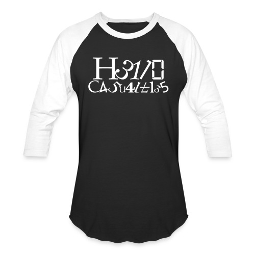 Hello Casualties Leet - Baseball T-Shirt