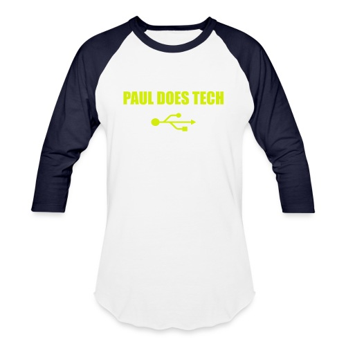 Paul Does Tech Yellow Logo With USB (MERCH) - Baseball T-Shirt
