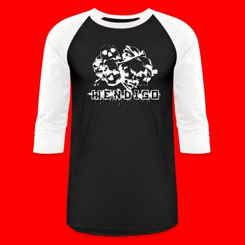 skulls2 png - Unisex Baseball T-Shirt