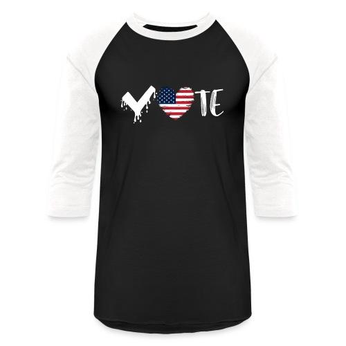 Vote Heart - Unisex Baseball T-Shirt