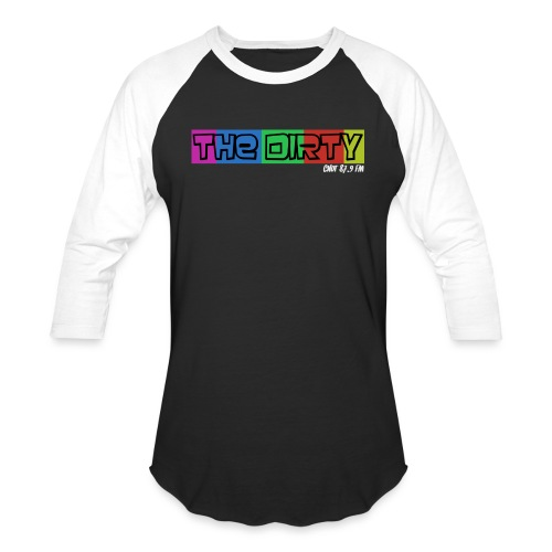 The Dirty FM transparent - Unisex Baseball T-Shirt