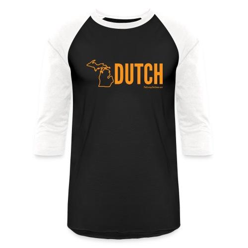 Michigan Dutch (orange) - Unisex Baseball T-Shirt