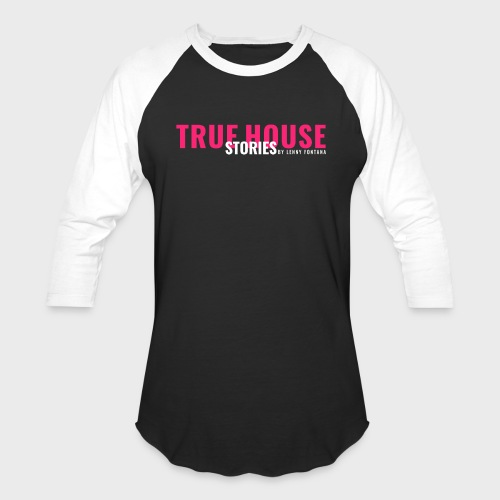 True House Stories Logo white - Unisex Baseball T-Shirt