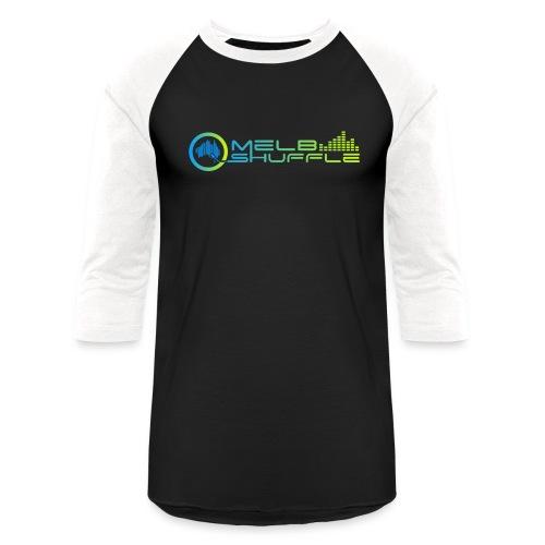 Melbshuffle Gradient Logo - Baseball T-Shirt