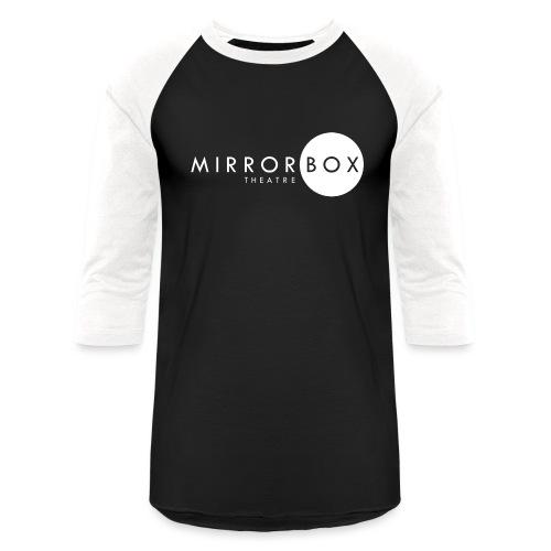MIRRORBOX LOGO GEAR (WHITE) - Unisex Baseball T-Shirt