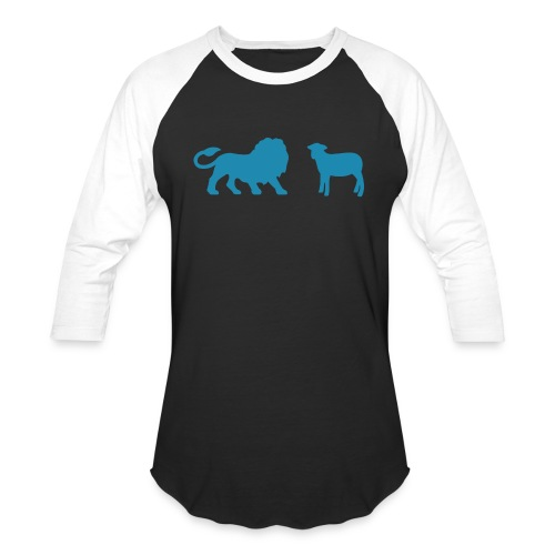 Lion and the Lamb - Unisex Baseball T-Shirt