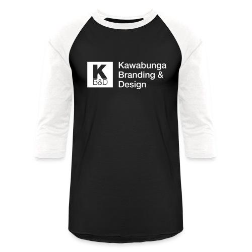 KBD Signature_blanc - Baseball T-Shirt