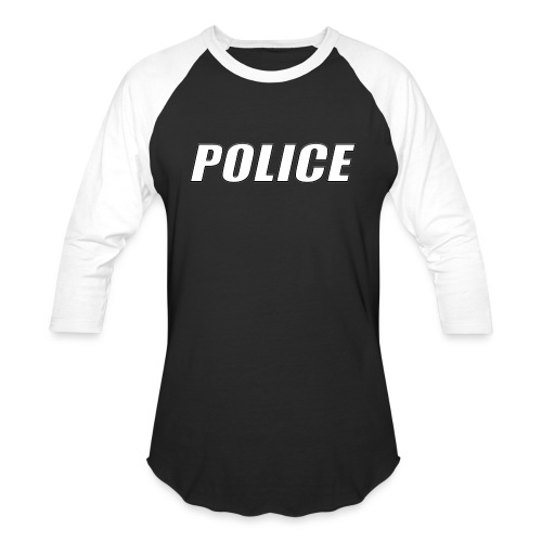 Police White - Baseball T-Shirt