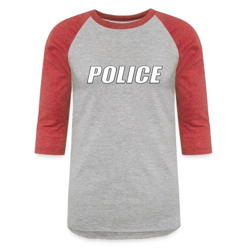 Police White - Unisex Baseball T-Shirt
