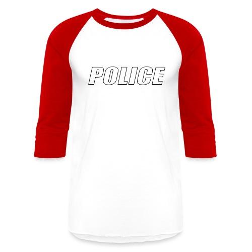 Police White - Baseball T-Shirt