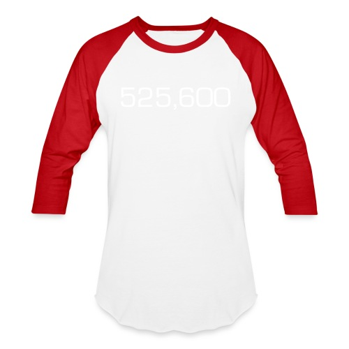 525,600 Minutes in a Year - Baseball T-Shirt
