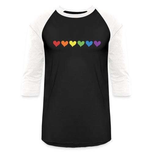 Pride Hearts - Unisex Baseball T-Shirt