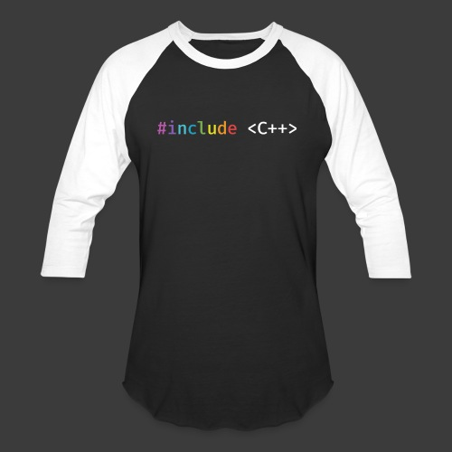Rainbow Include C++ - Baseball T-Shirt