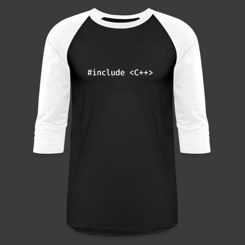Include Original (Dark Background) - Unisex Baseball T-Shirt
