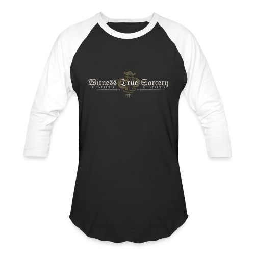 Witness True Sorcery Logo - Unisex Baseball T-Shirt