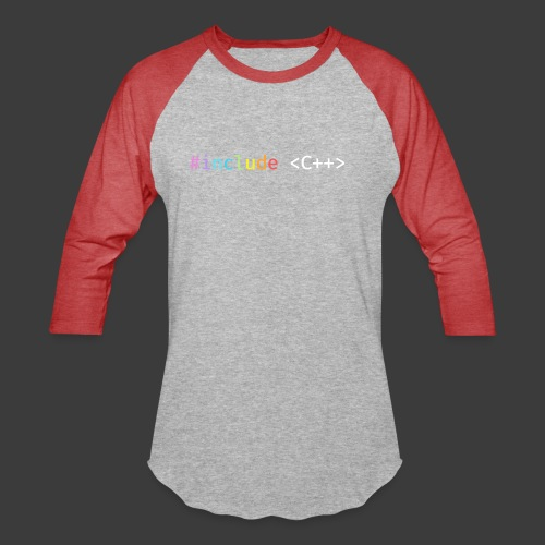 Rainbow Include C++ (Dark Background) - Unisex Baseball T-Shirt