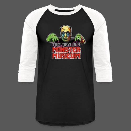 Monster Museum Logo - Unisex Baseball T-Shirt