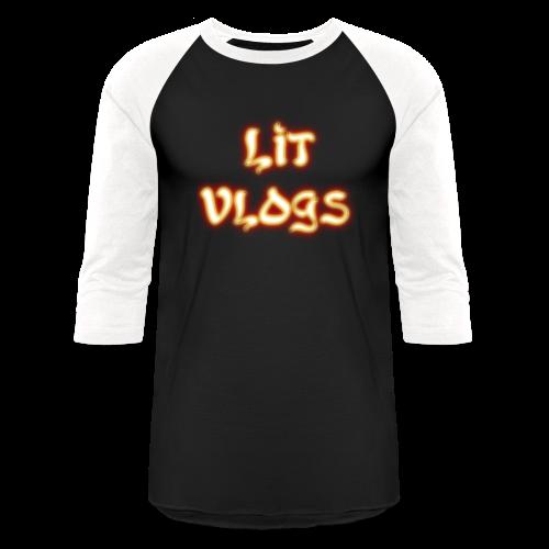 Lit Vlogs Glowing - Baseball T-Shirt